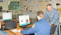 Занятия  на Автоматизированой обучающей системе в учебном классе вертолета Ми-8МТВ