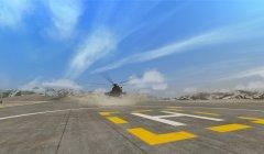 Dust storm, mountain landing field, Afghanistan