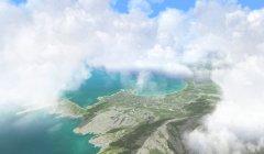 Cumulus clouds, cloud amount 90%