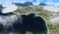 Cumulus clouds, cloud amount 40%