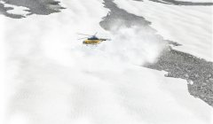 Blizzard in the mountains of Afghanistan