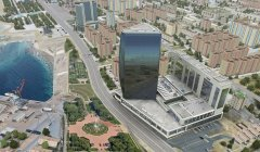 Port Baku towers,
