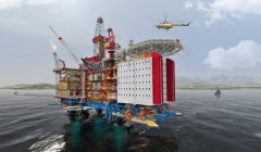 Landing on the oil rig, Corsica